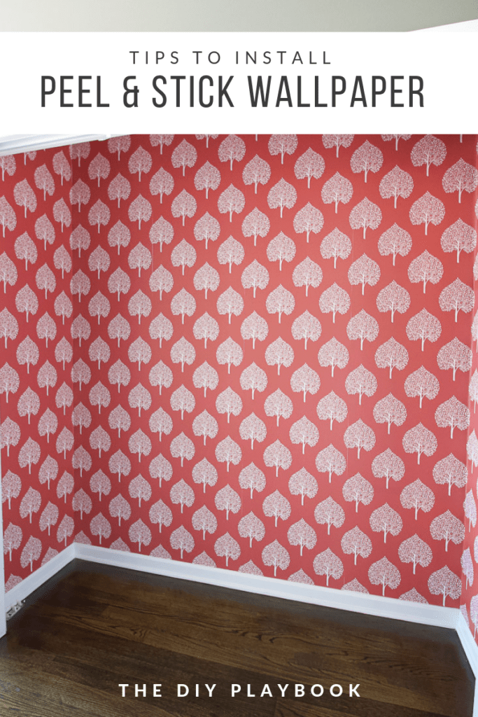 Tips to install peel and stick wallpaper