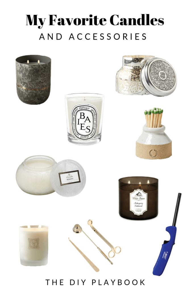My favorite candles and accessories