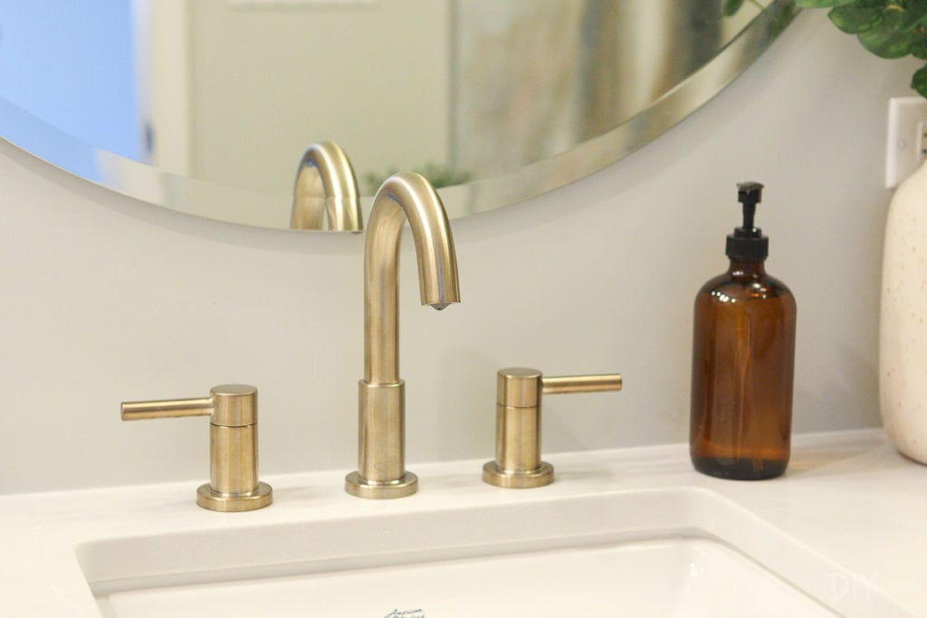 Brass faucet from Lowe's Home Improvement