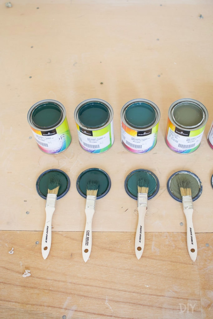 Choosing a dark green paint color