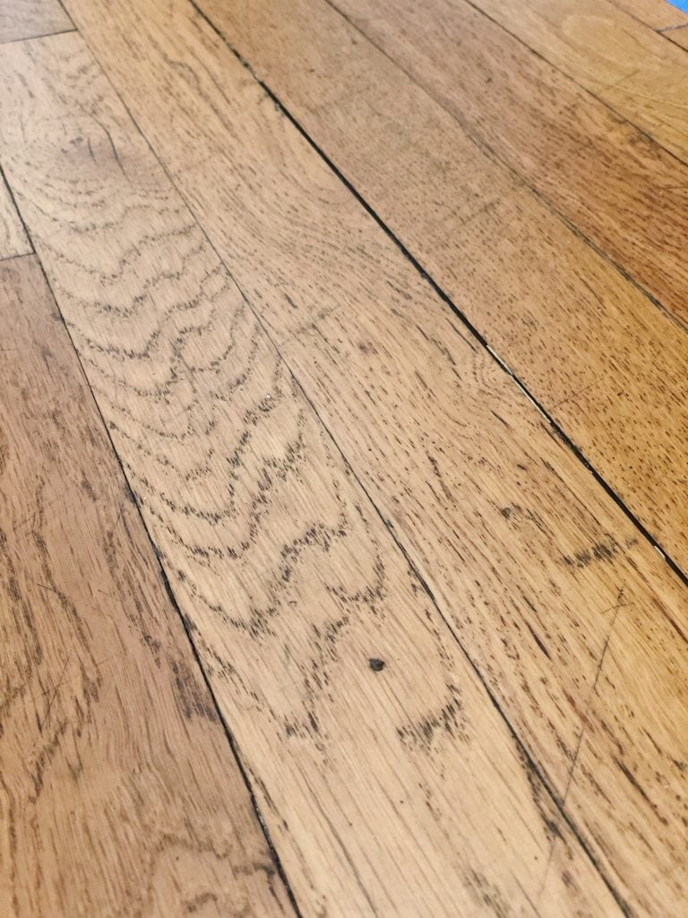 Damaged hardwood floors