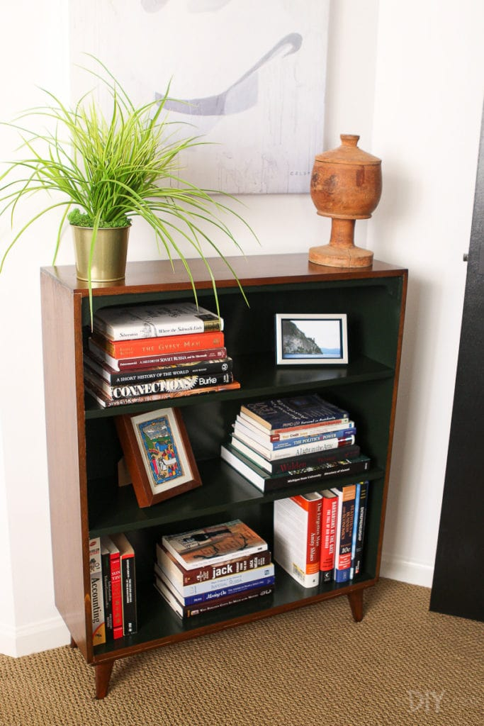 Bookshelf in a guest room