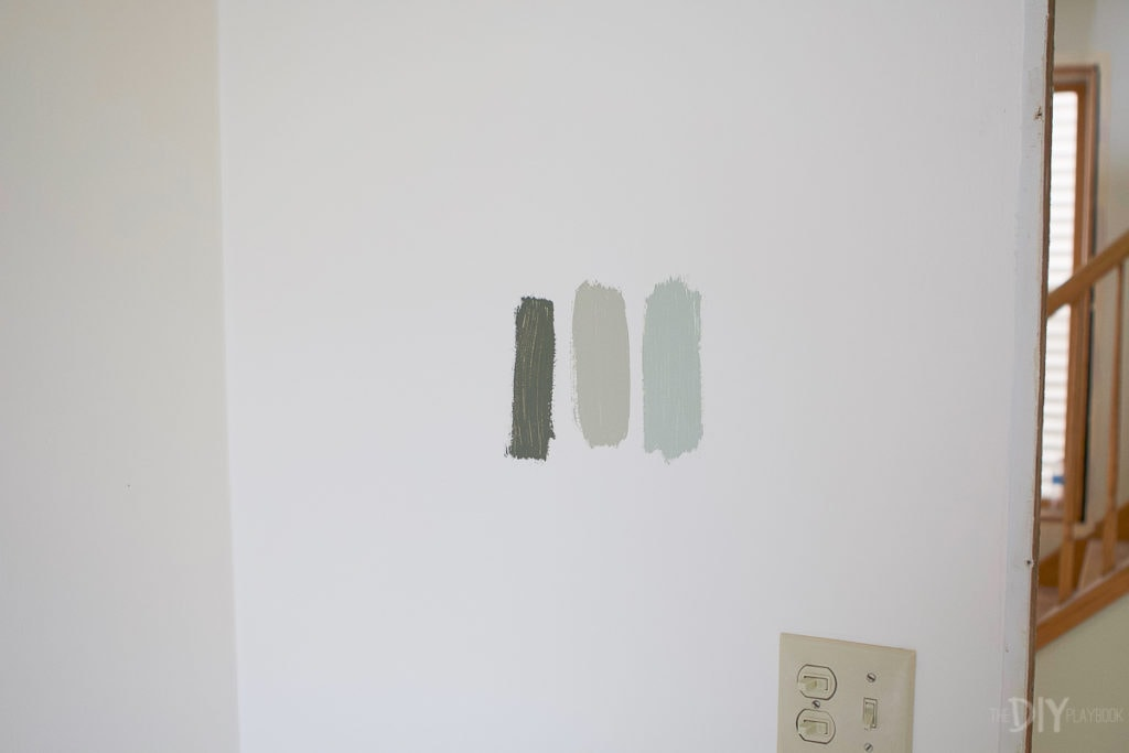 Sage paint colors in the bathroom