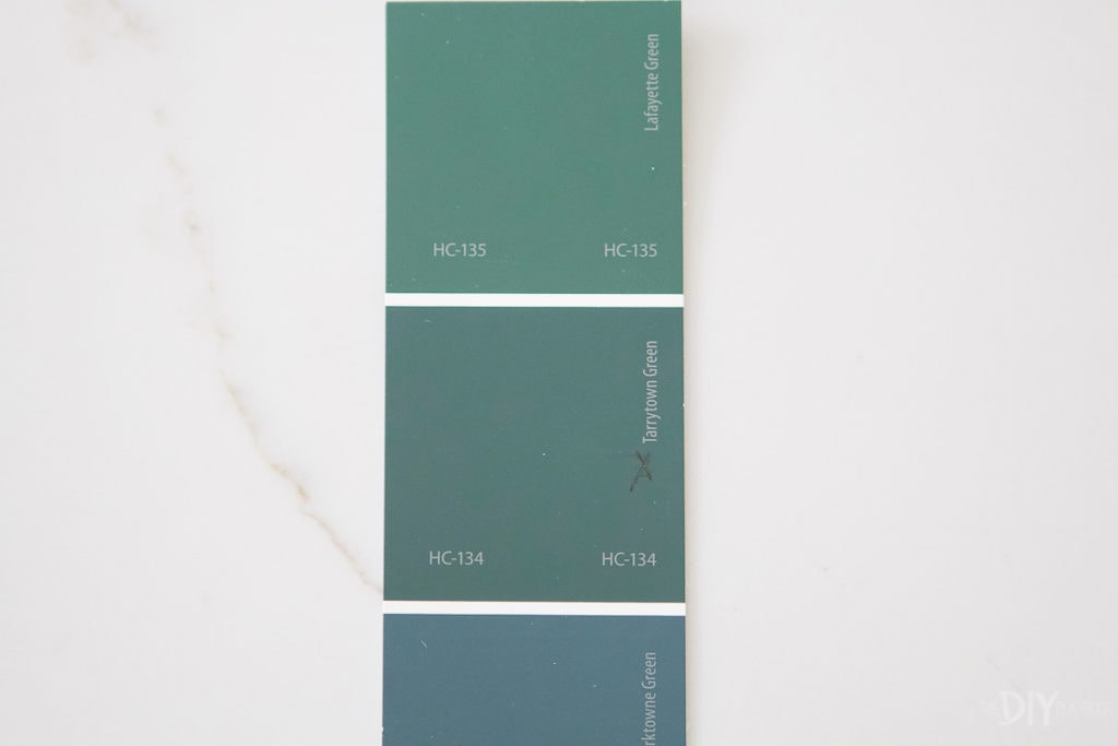 Tarrytown green paint swatch