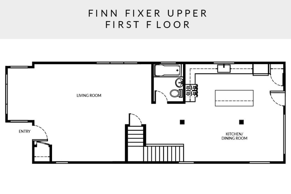 Finn Fixer Upper floor plan first floor