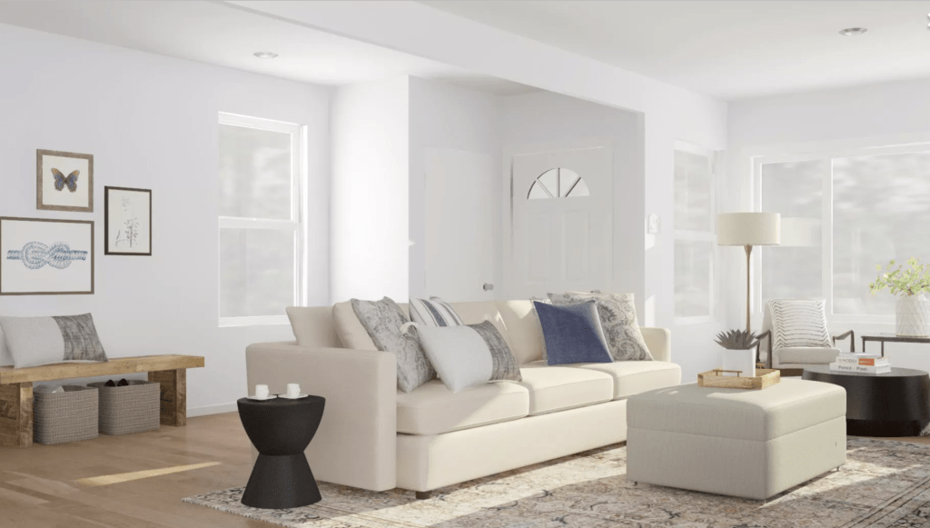 Choosing the perfect living room layout with Modsy