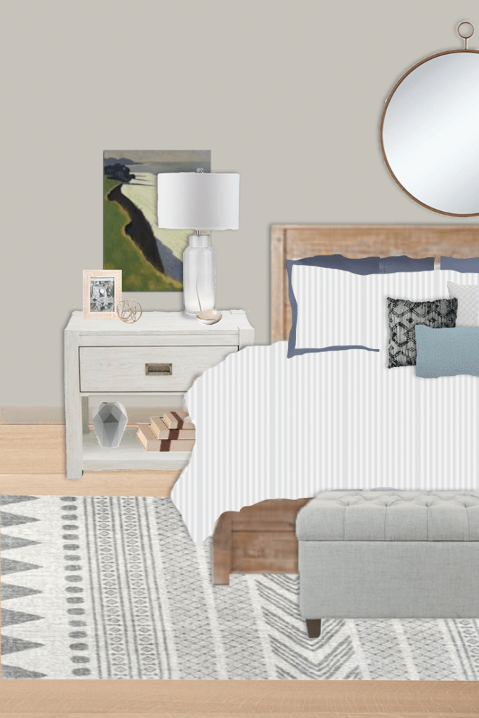 budget-friendly nightstand styling