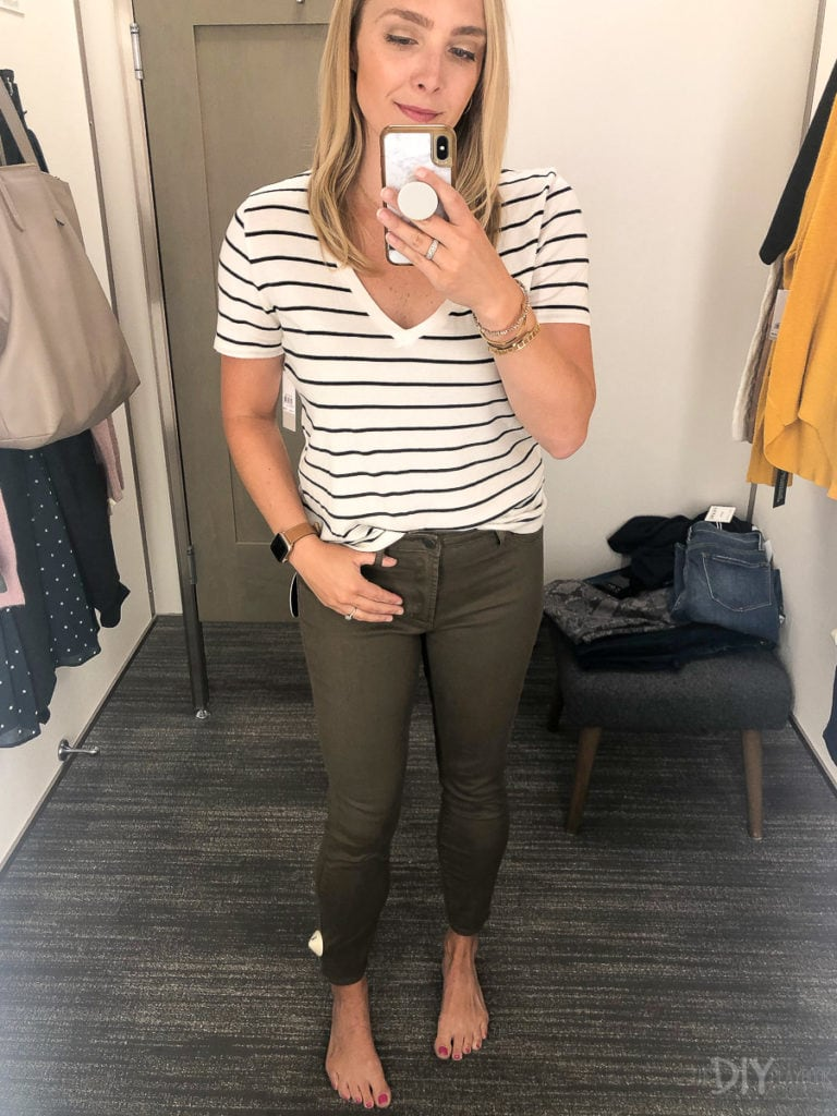 Green denim from Nordstrom