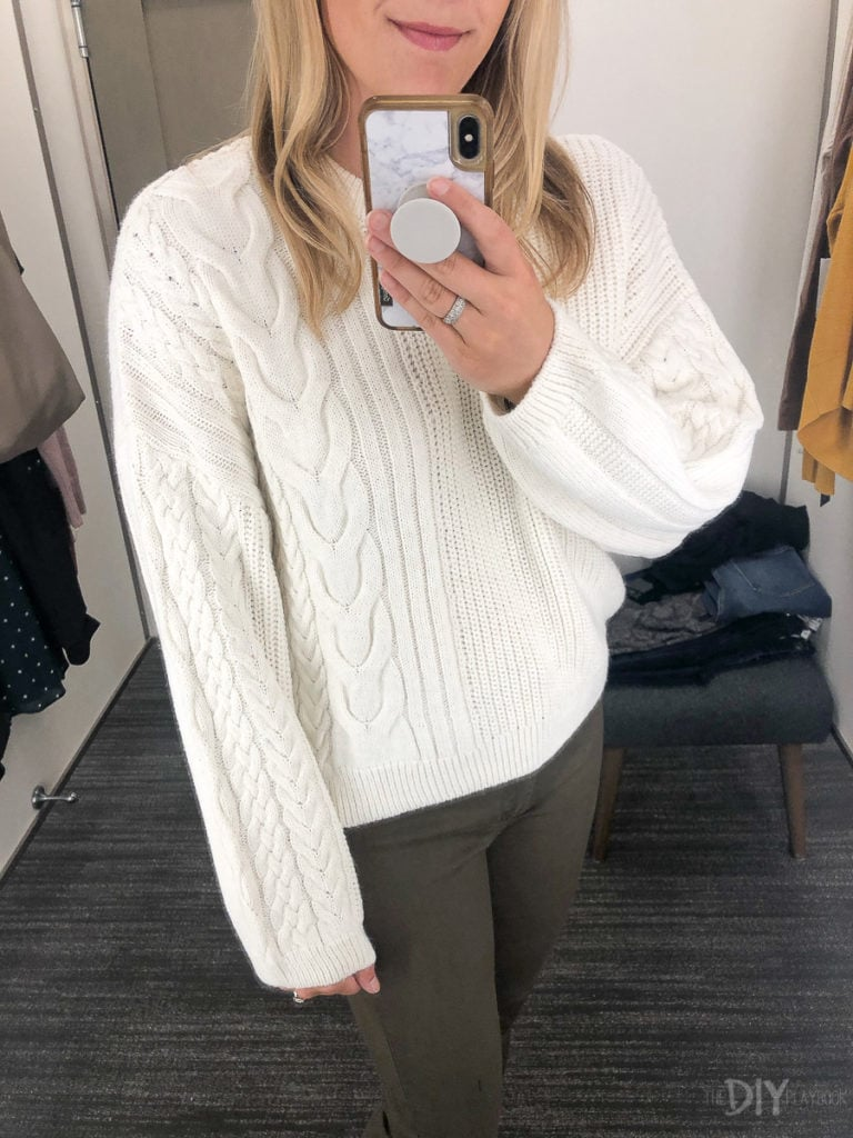 White sweater from Nordstrom
