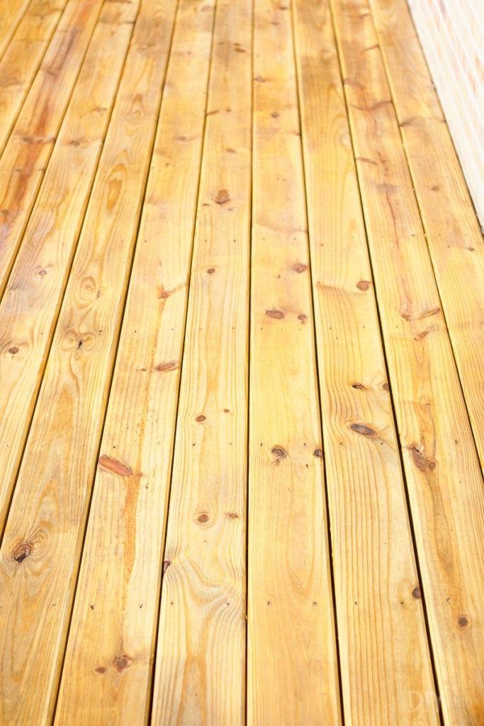 Clean deck