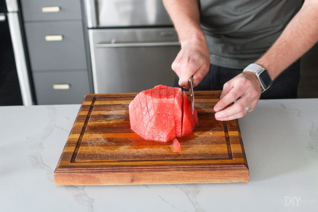 the best way to cut a watermelon