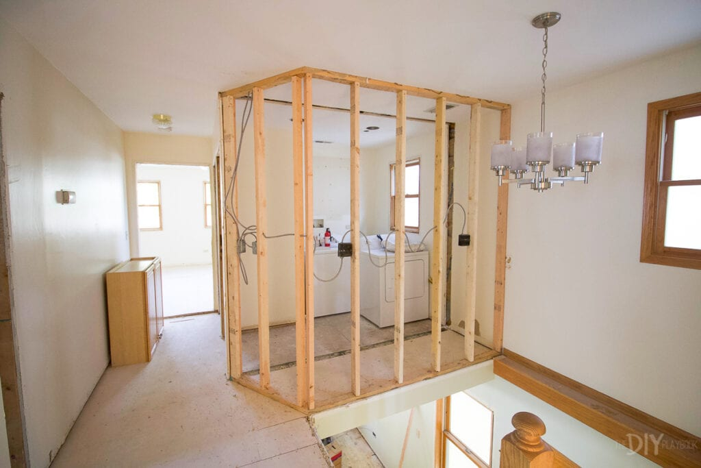 Adding framing for a laundry room