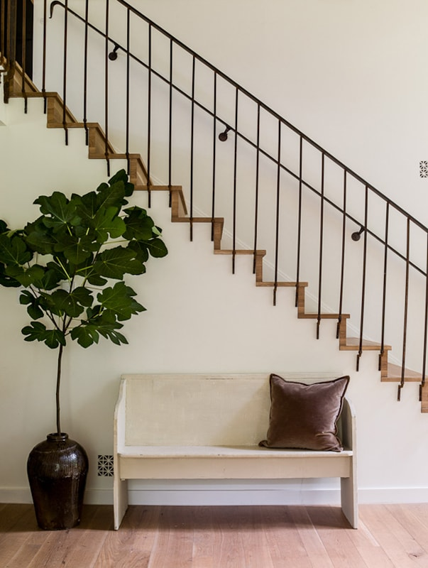 Staircase from Lauren Liess organic modern style
