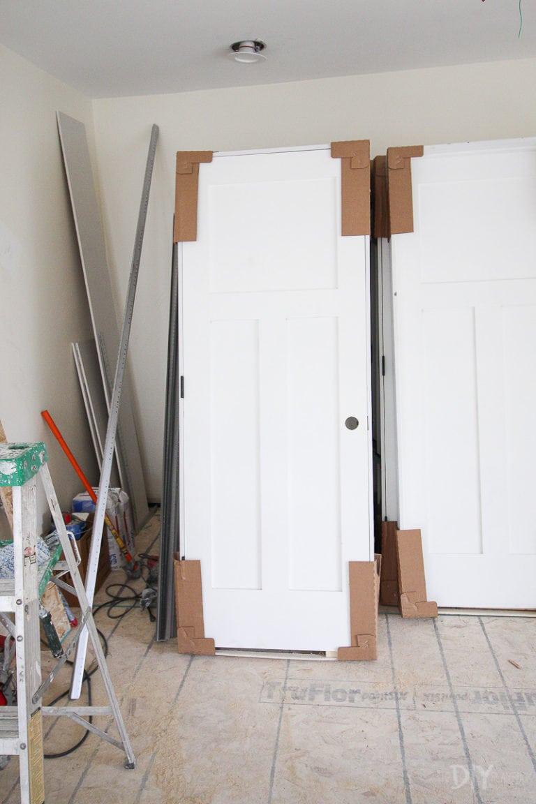 Craftsman style shaker door