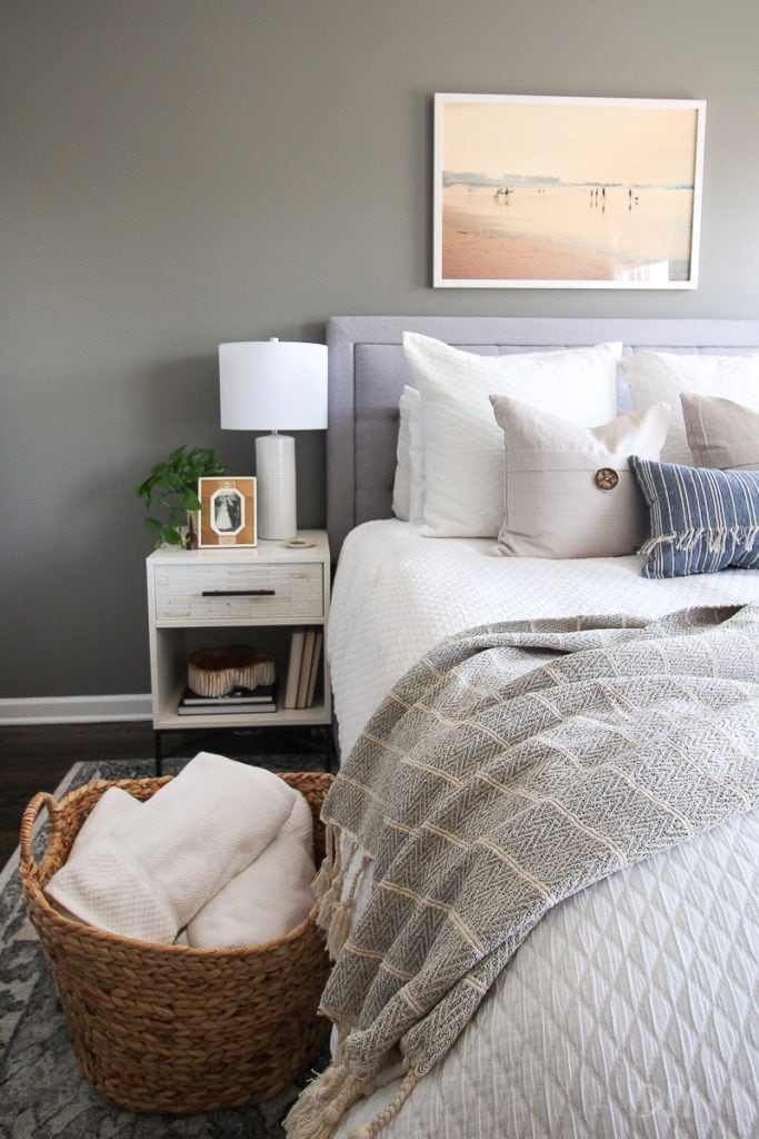 Guest bedroom with coastal touches