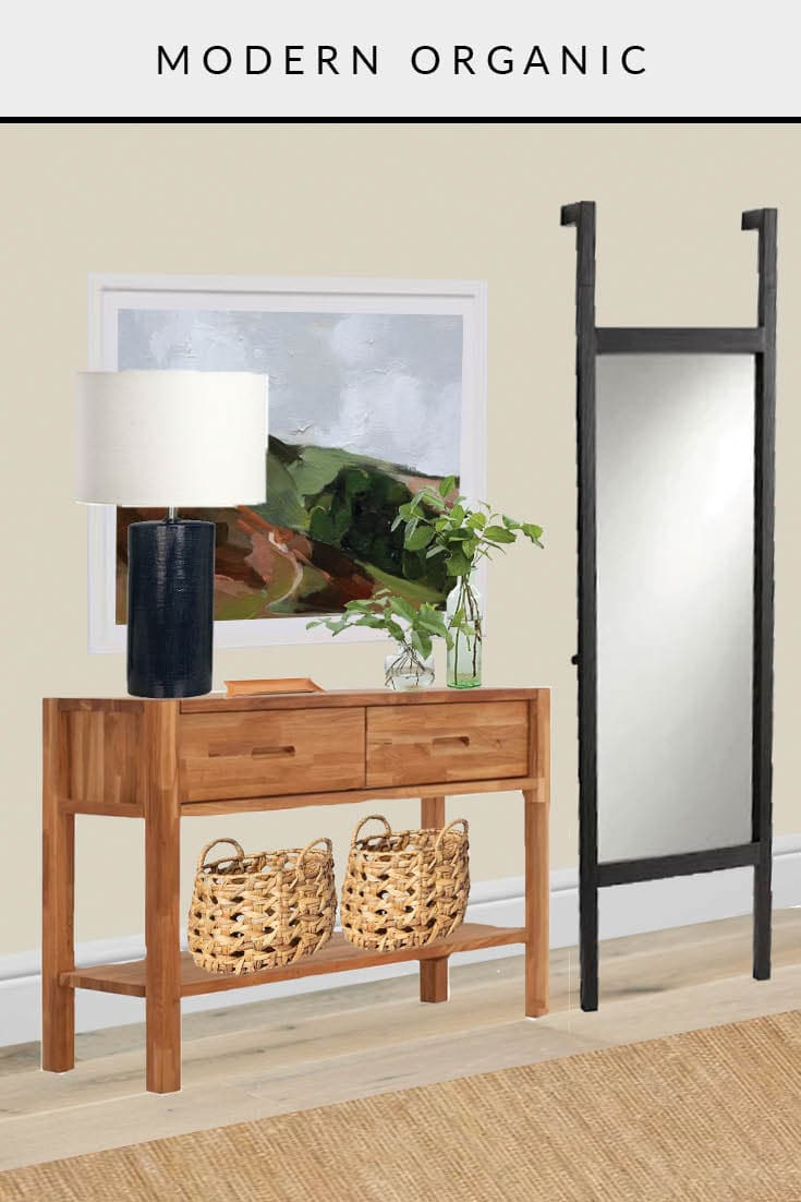 entryway one room, three ways modern organic