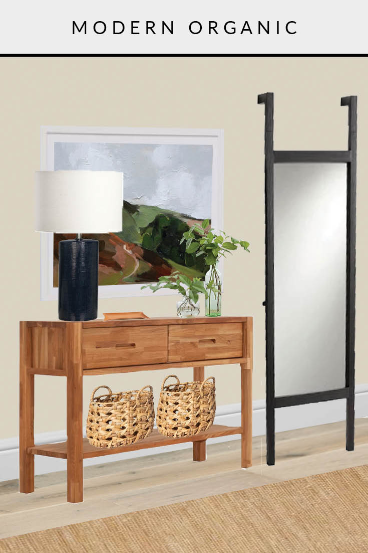 entryway modern organic one room three ways