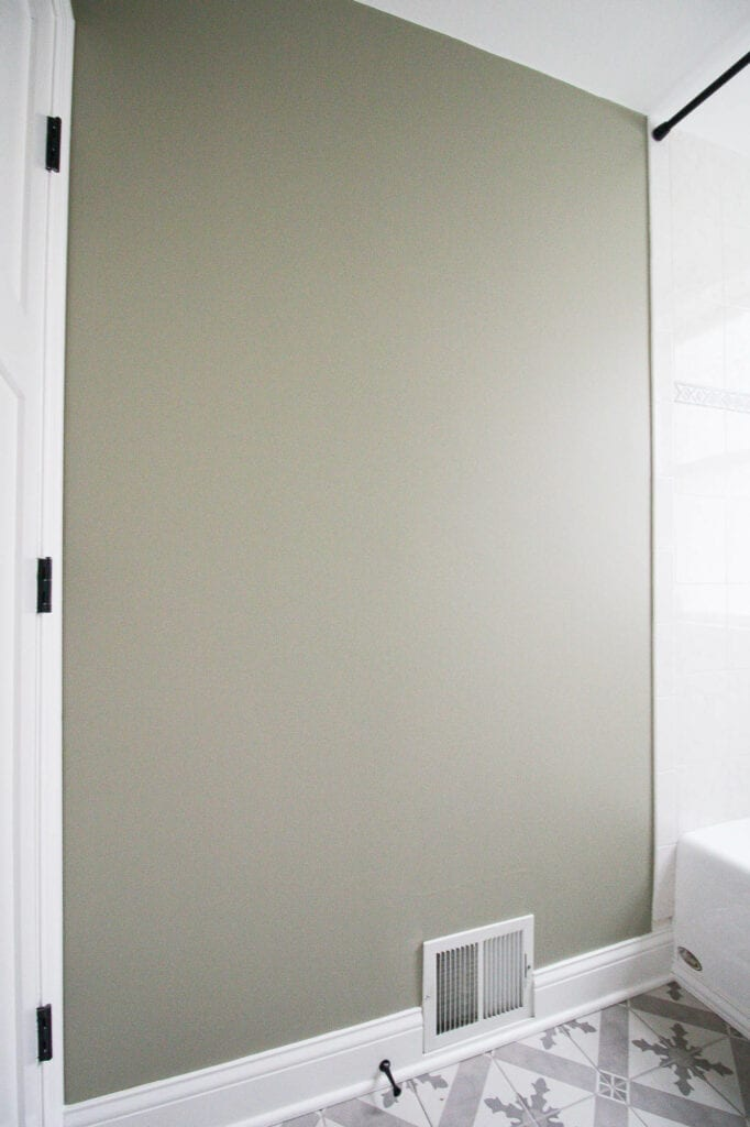 Blank wall in the bathroom