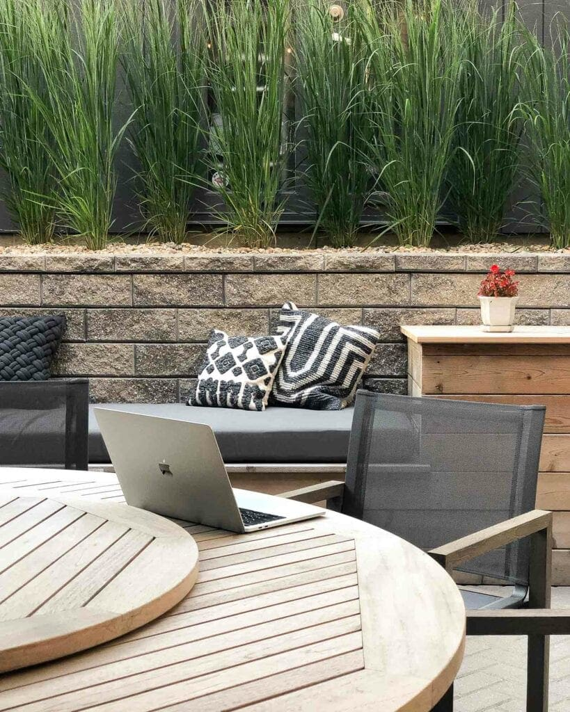 Back patio in the city