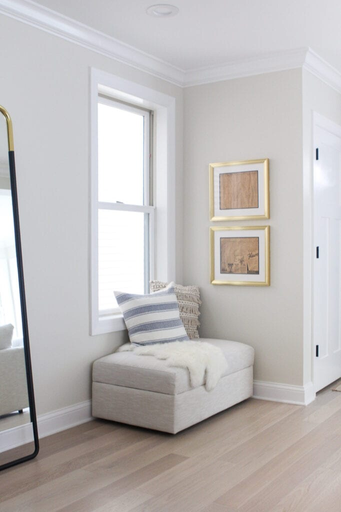 Adding gold frames to a blank wall