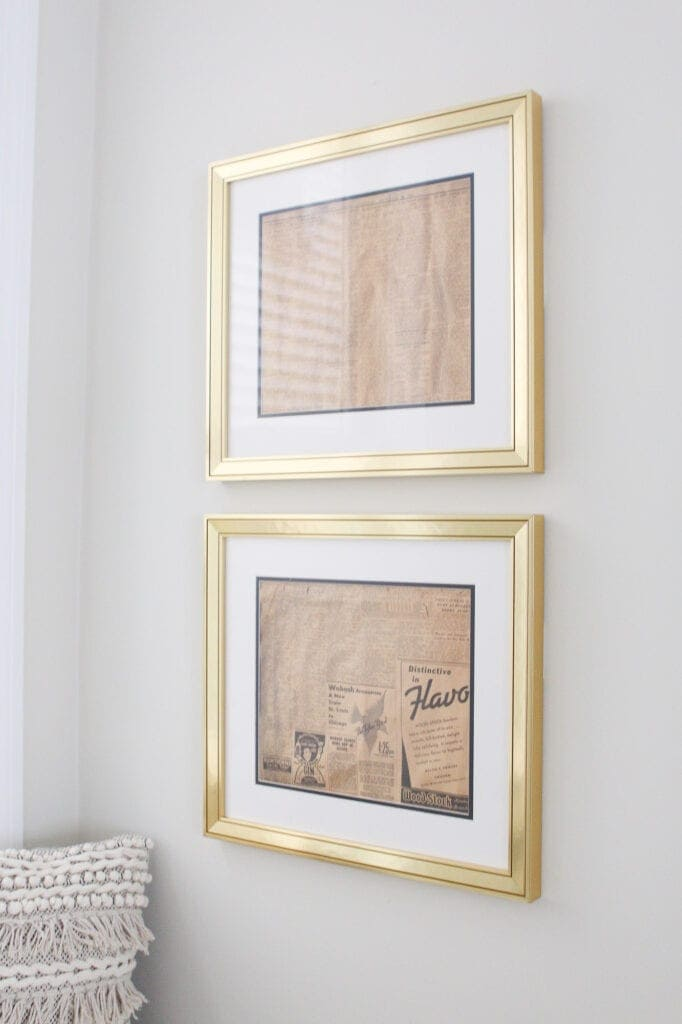 Gold frames from custom picture frames