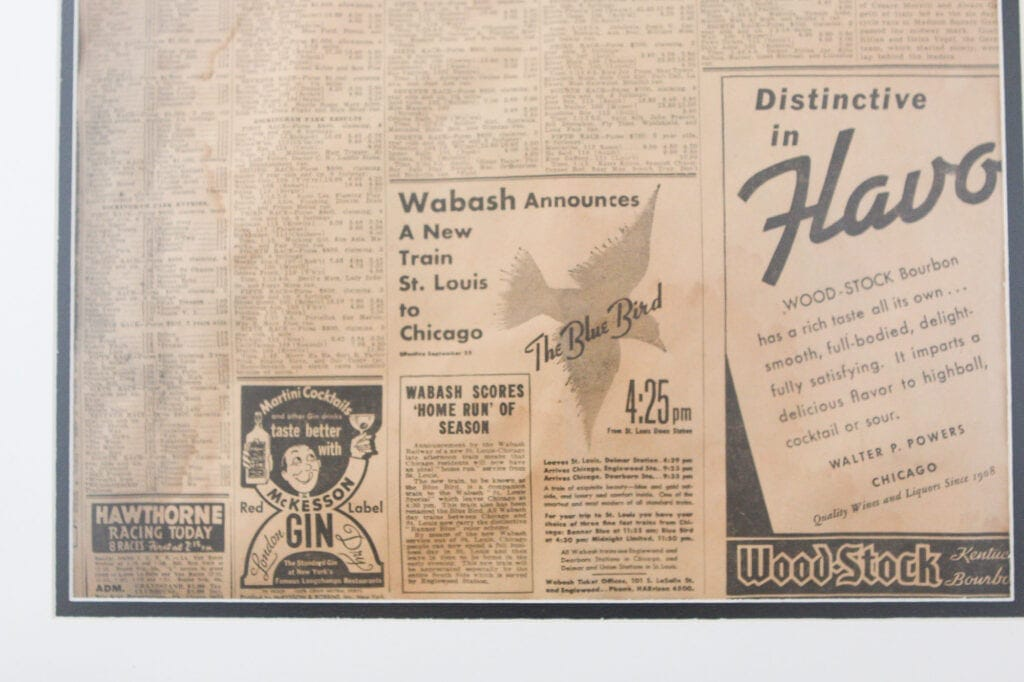 Ad from a 1938 chicago tribune newspaper