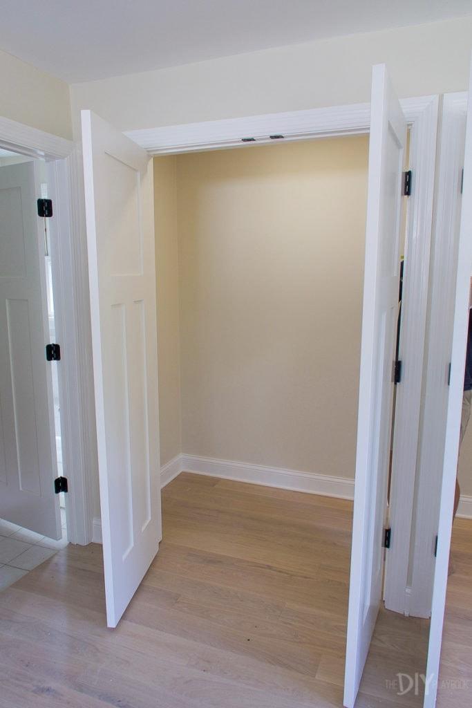 Master bedroom closet empty
