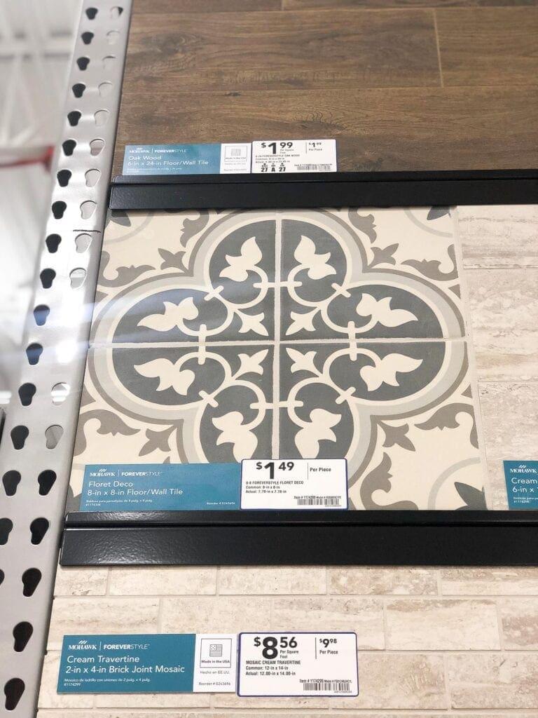 Mohawk patterned floor tile