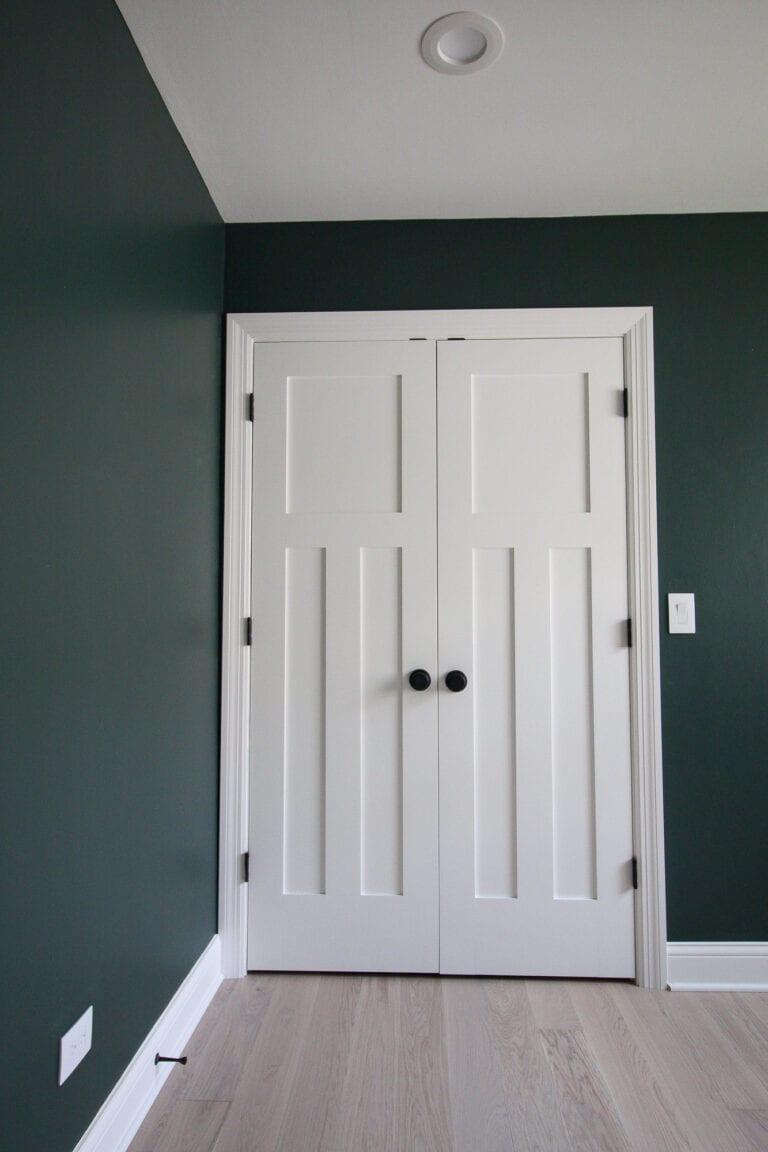 Our new matte black door knobs