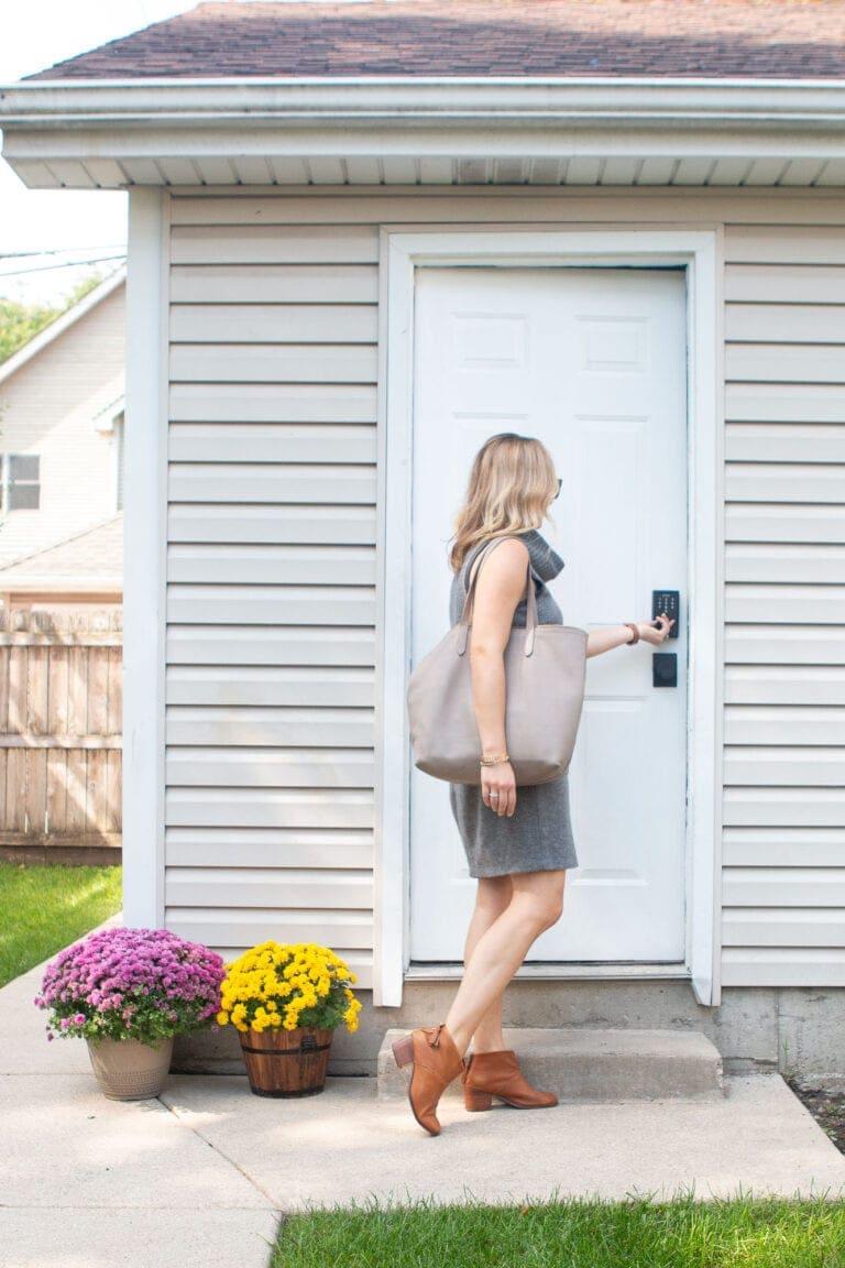 New garage door lock