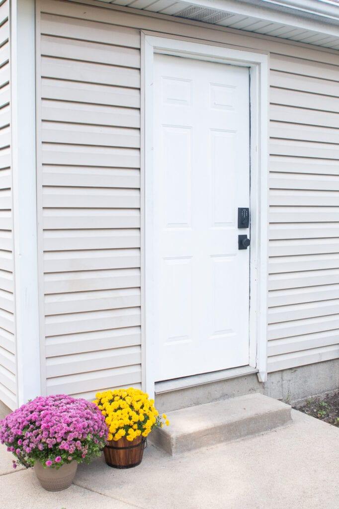 Our new keyless garage door hardware
