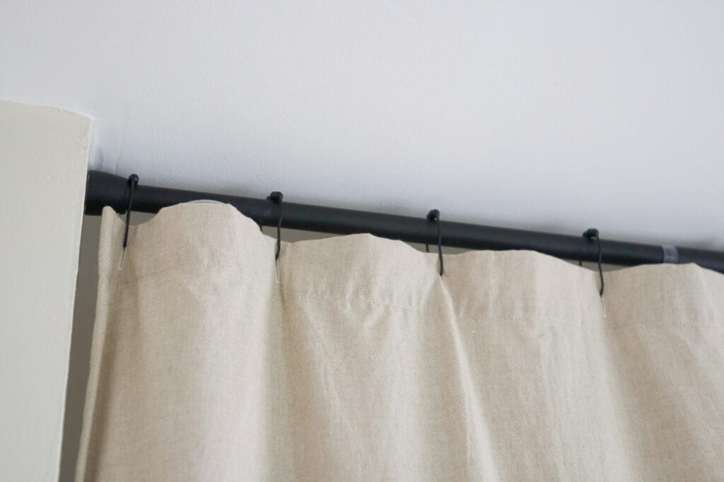 Black shower curtain rod
