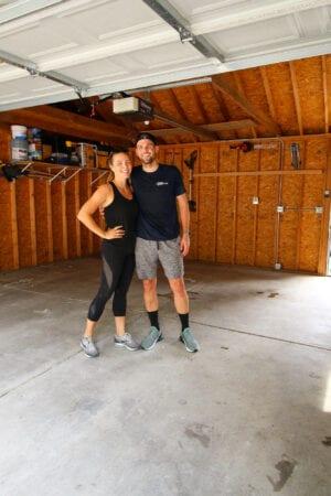 Our new garage floor tiles