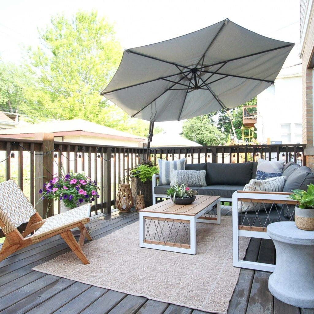 Our deck makeover before and after
