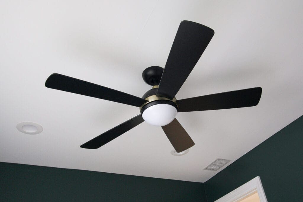 Make sure you dust your ceiling fans during spring cleaning