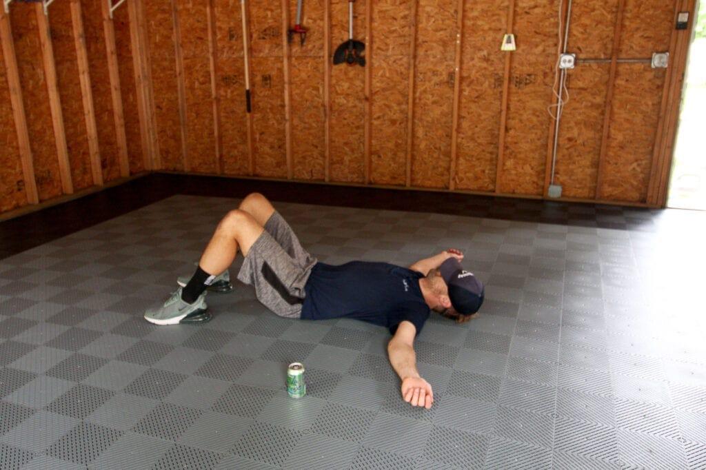 Garage floor tiles from Montezuma