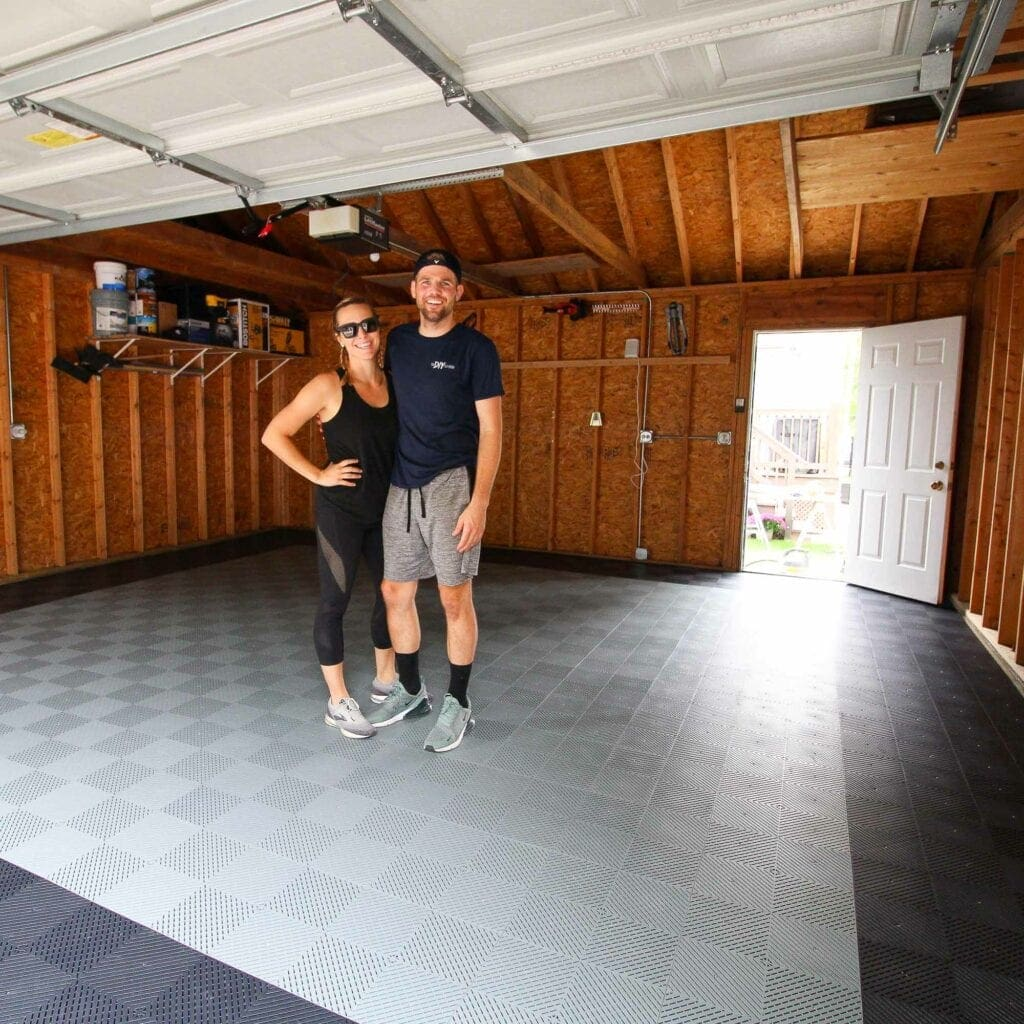 Enjoying our new clean garage