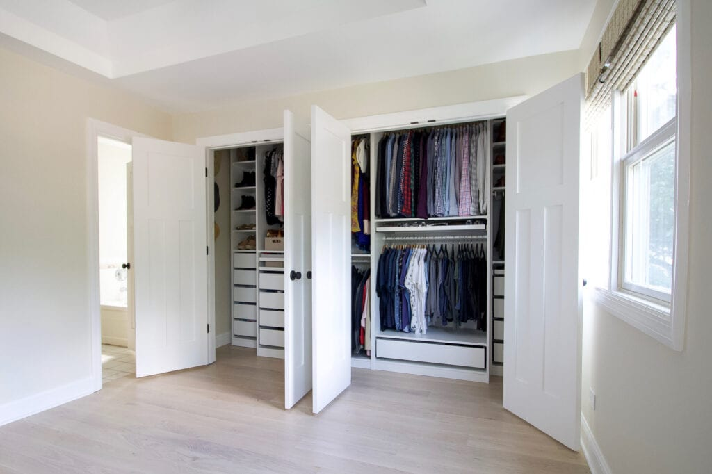closet before and after makeover
