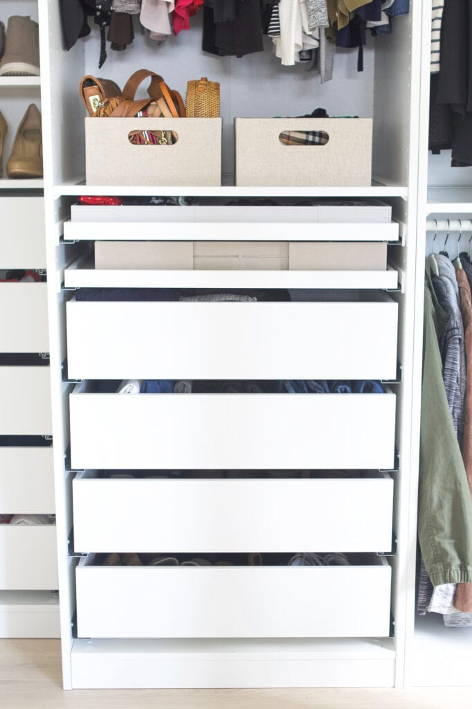 Drawers in my IKEA closet