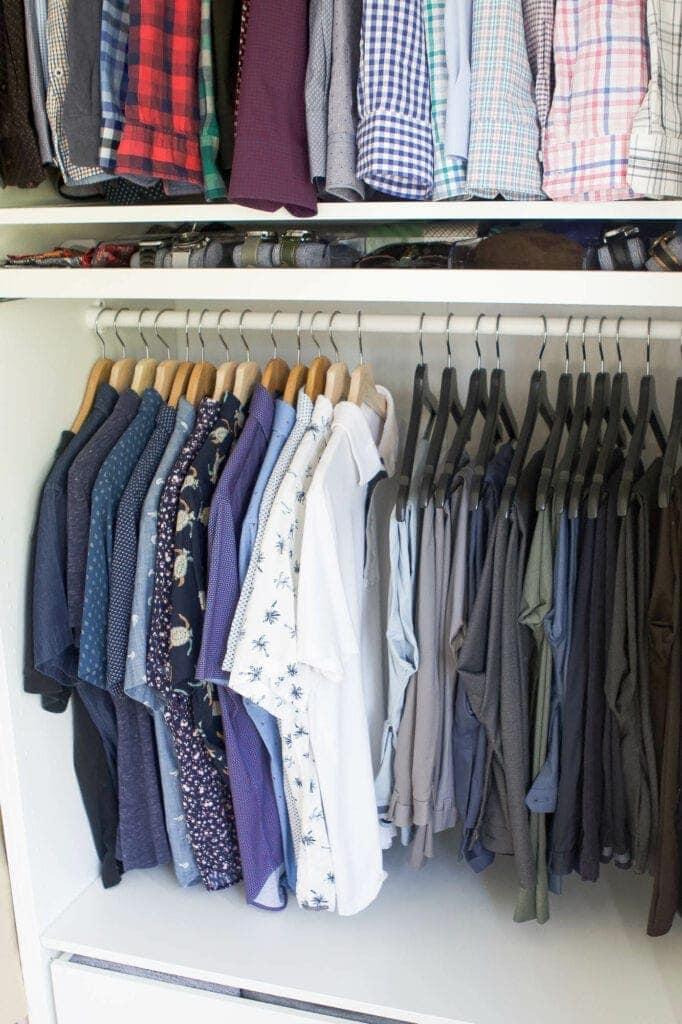 Organized shirts