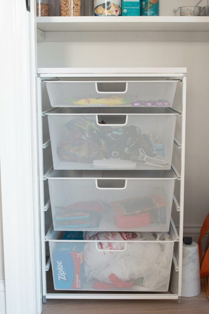 Pull out drawers from The Container Store
