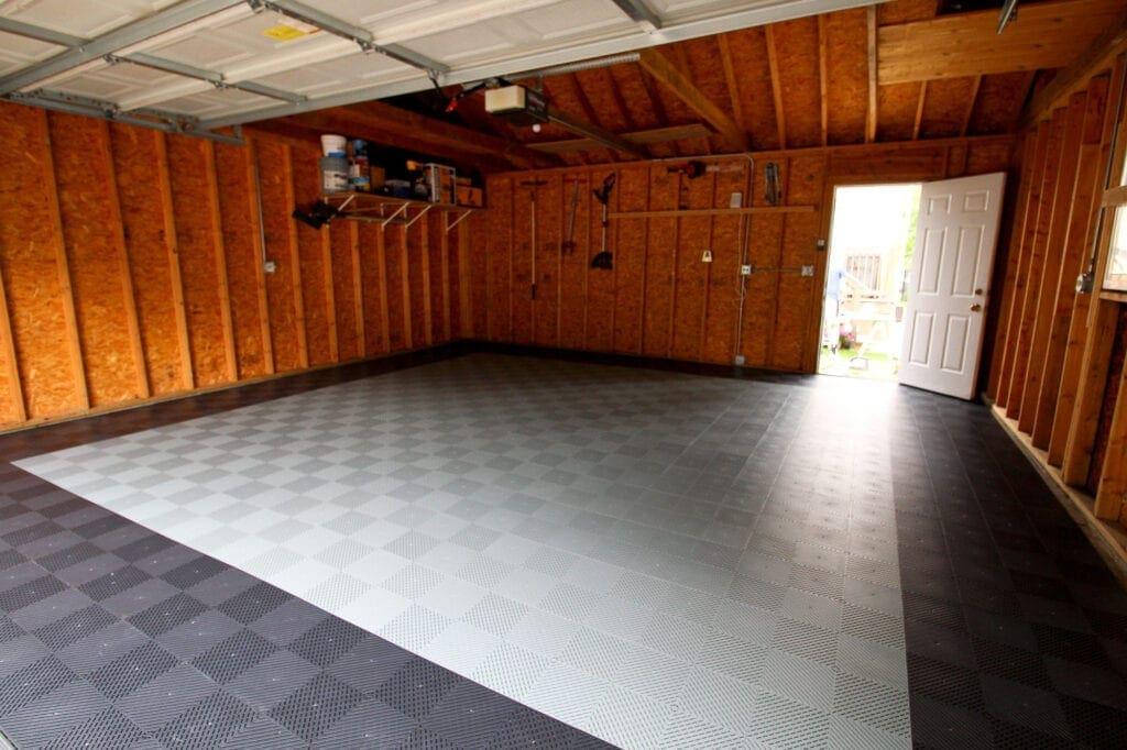 Our garage flooring