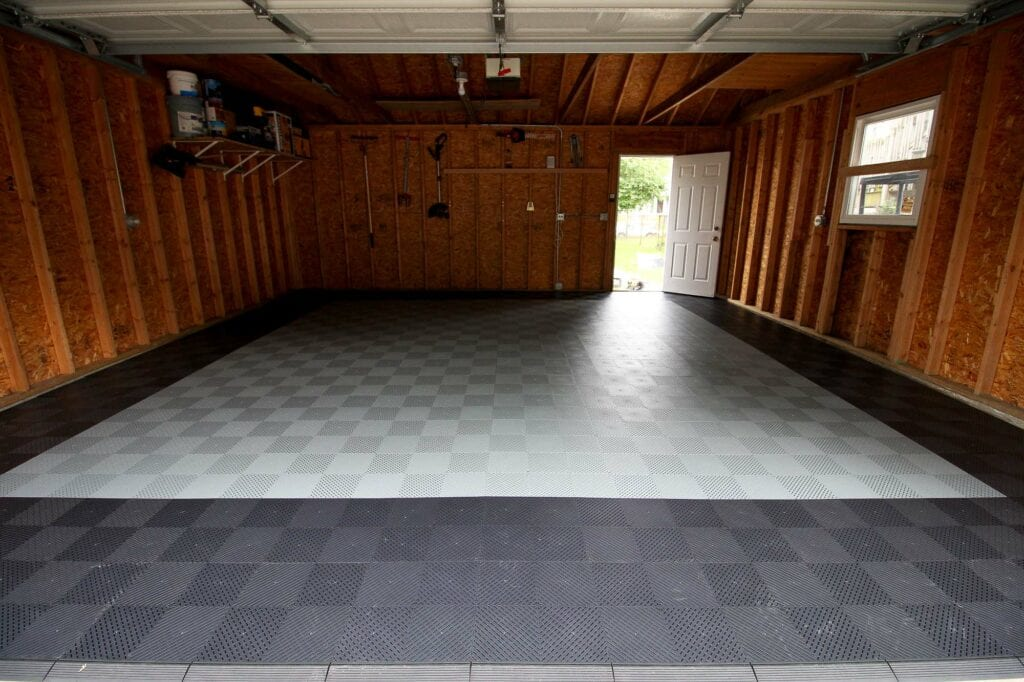 How to install montezuma storage garage floor tiles