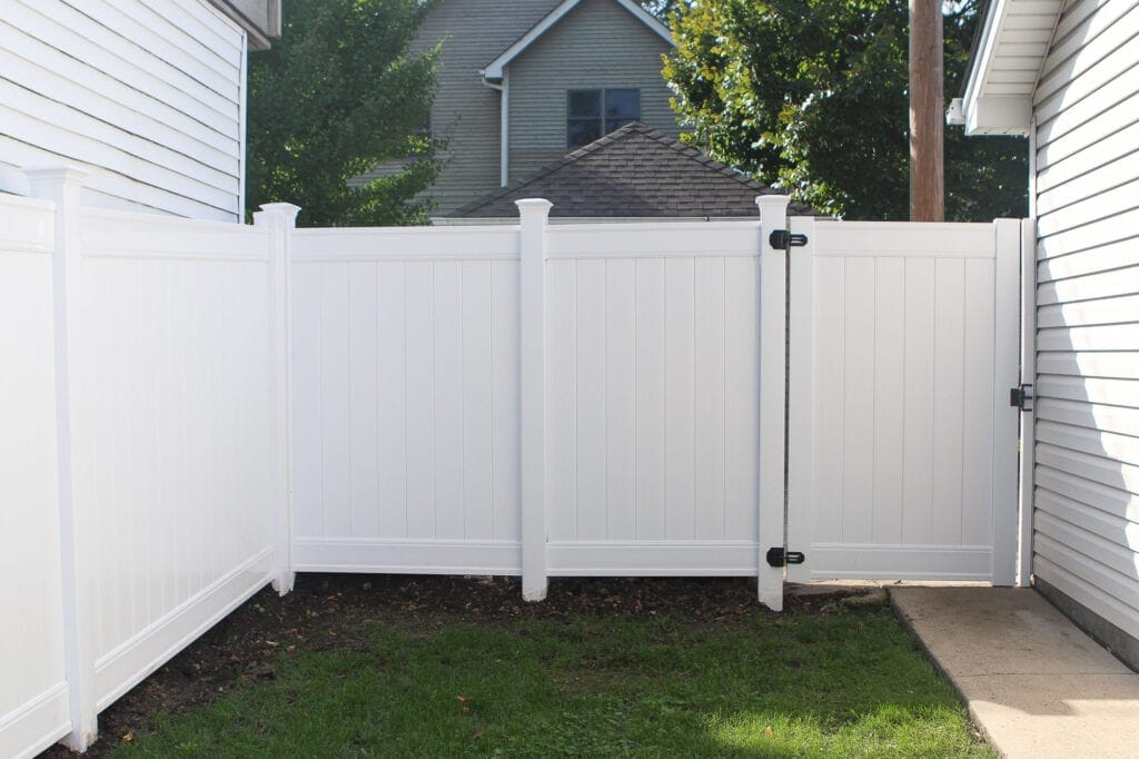 Our white vinyl fence