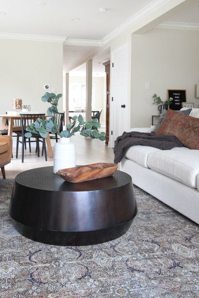 Coffee table from Crate and Barrel