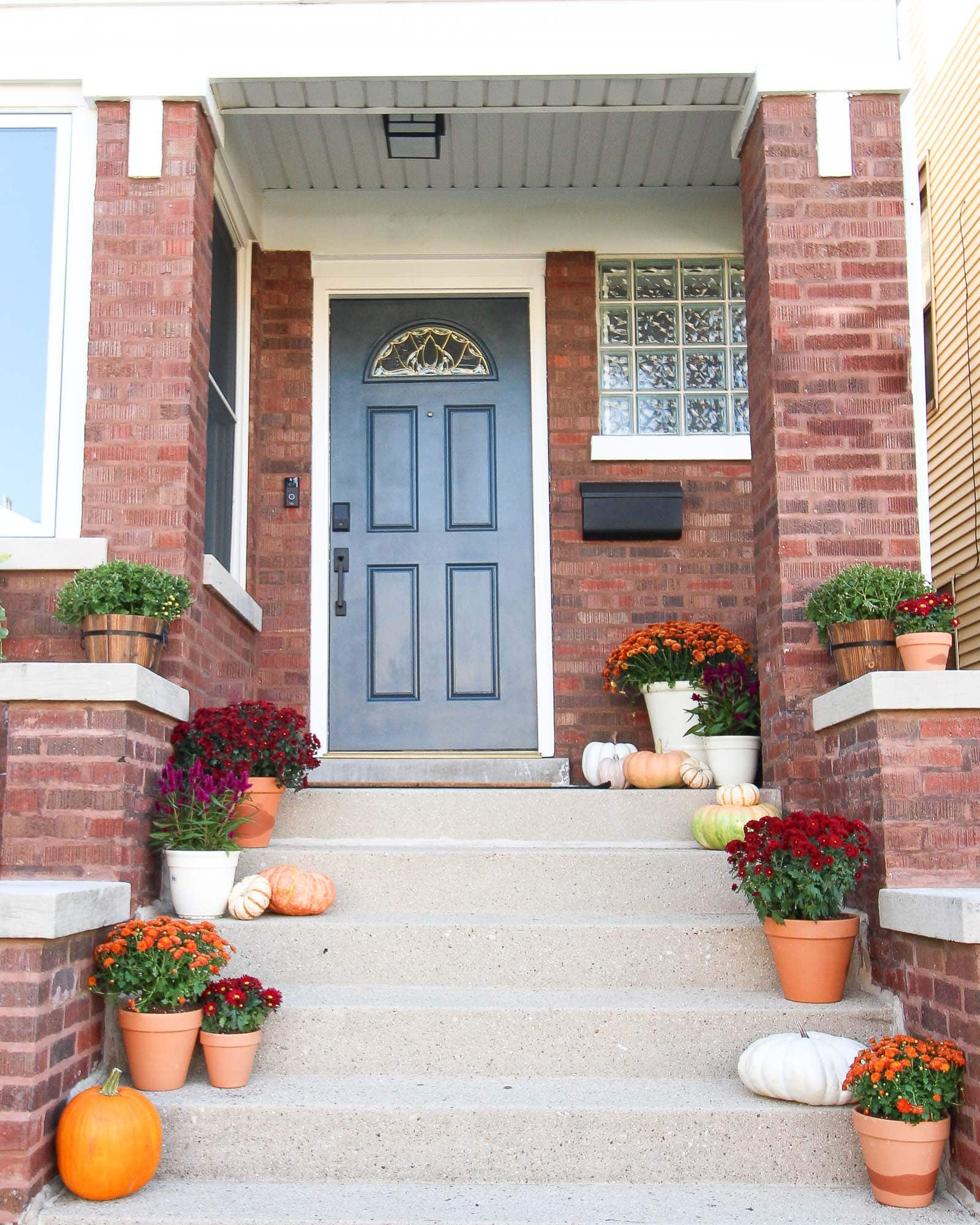 Our fall front porch makeover