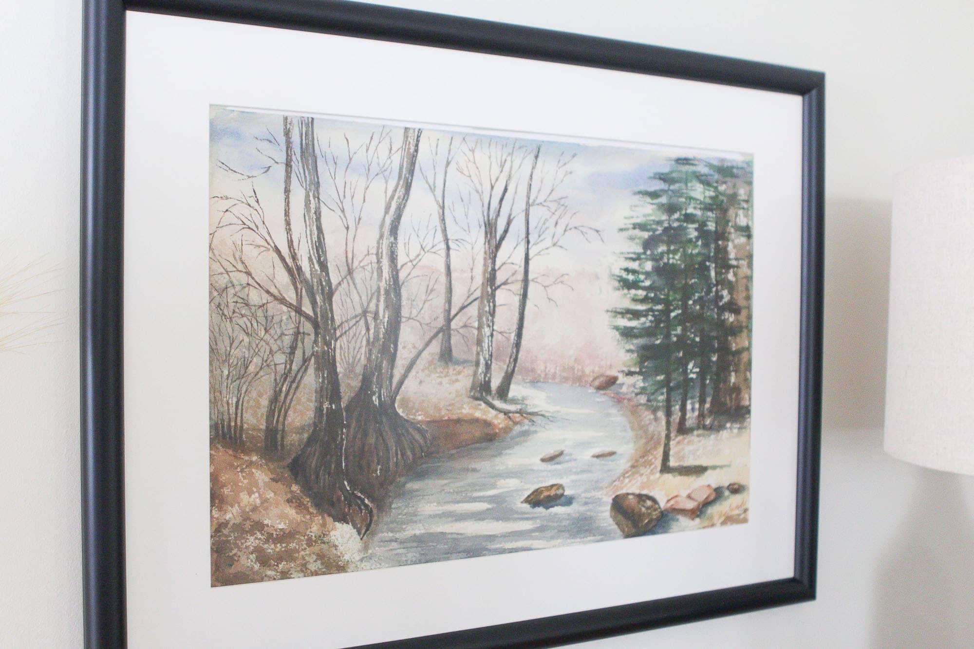 Custom framing special art pieces