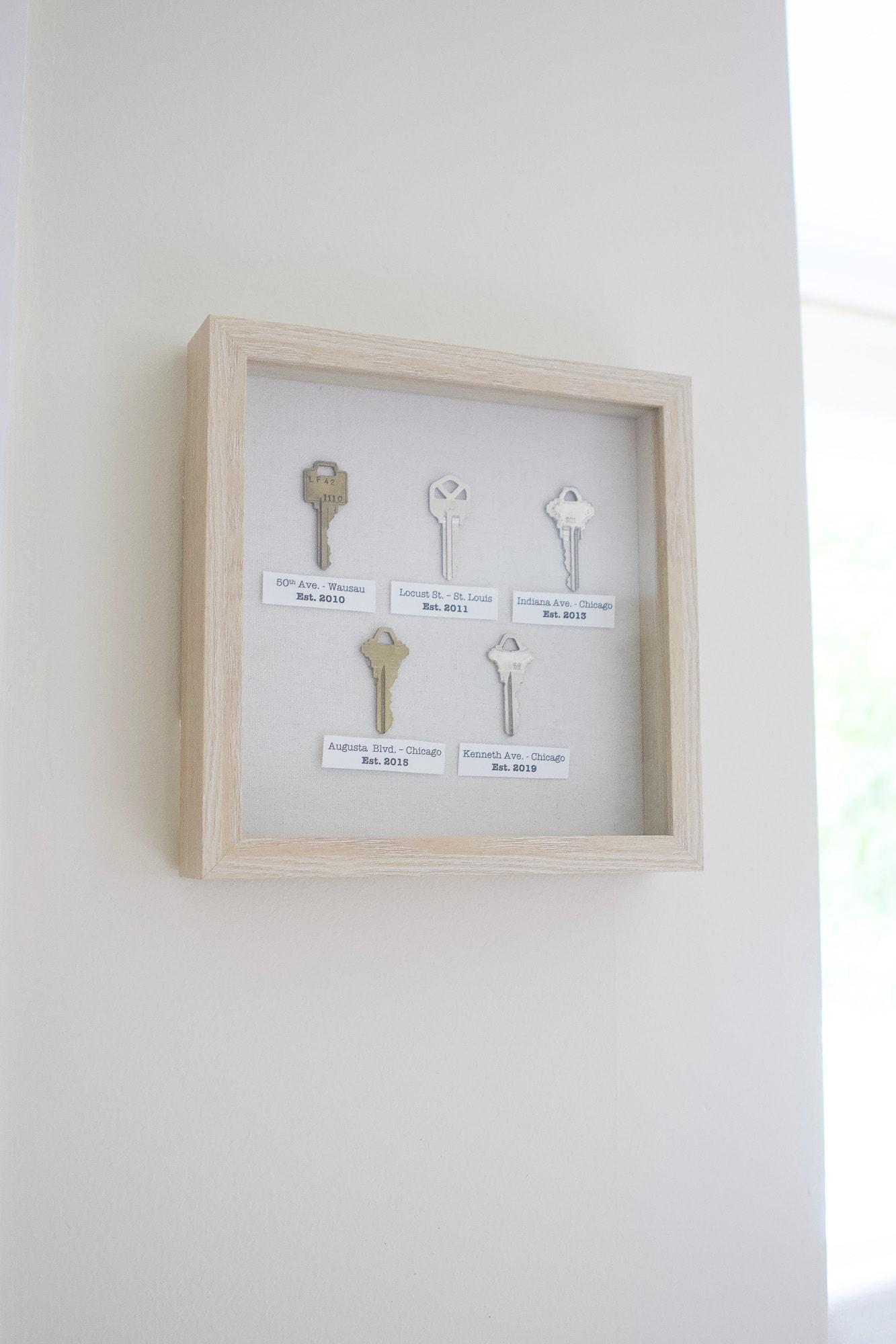Home key art near the front door
