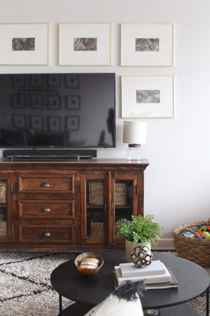 Wood TV console
