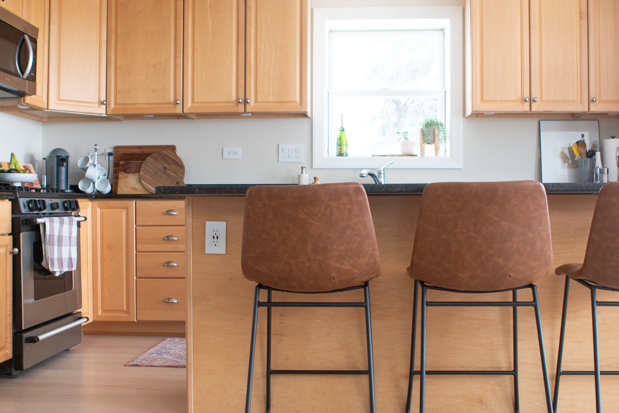 Leather Kitchen stools